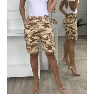In Charge Cargo Tan Shorts